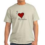 I love Alejandra Light T-Shirt