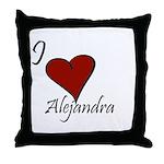 I love Alejandra Throw Pillow