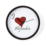 I love Alejandra Wall Clock