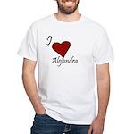 I love Alejandra White T-Shirt