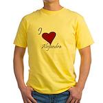 I love Alejandra Yellow T-Shirt