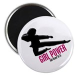Girl Power 3 Karate Magnet