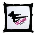 Girl Power 3 Karate Throw Pillow