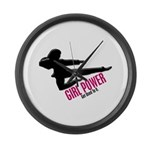 Girl Power 3 Karate Large Wall Clock