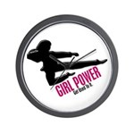 Girl Power 3 Karate Wall Clock