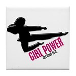 Girl Power 3 Karate Tile Coaster