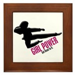 Girl Power 3 Karate Framed Tile
