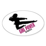 Girl Power 3 Karate Sticker (Oval 10 pk)