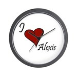 I love Alexis Wall Clock