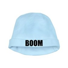 BOOM black-text baby hat