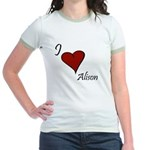 I love Alison Jr. Ringer T-Shirt