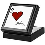 I love Alison Keepsake Box