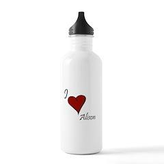 I love Alison Water Bottle