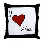 I love Alison Throw Pillow