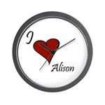 I love Alison Wall Clock