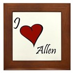 I love Allen Framed Tile