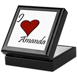 I love Amanda Keepsake Box