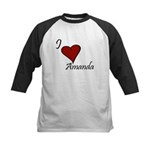 I love Amanda Kids Baseball Jersey
