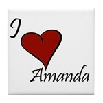I love Amanda Tile Coaster