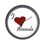 I love Amanda Wall Clock