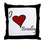 I love Bradley Throw Pillow
