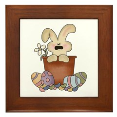 Easter Bunny Framed Tile