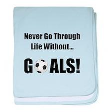Soccer Goals! baby blanket