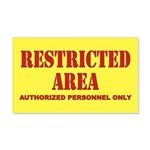 Restricted Area 20x12 Wall Decal