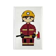 Cute UK Firefighter Magnet