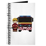 Cute Firefighter and Fire Engine Journal