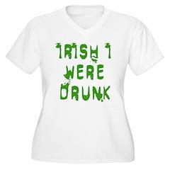 IRISH I WERE DRUNK Women's Plus Size V-Neck T-Shir