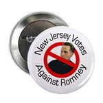 New Jersey Votes Against Romney button