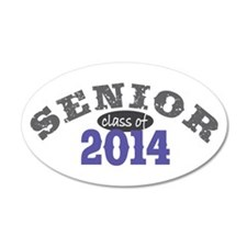 Senior Class of 2014 38.5 x 24.5 Oval Wall Peel