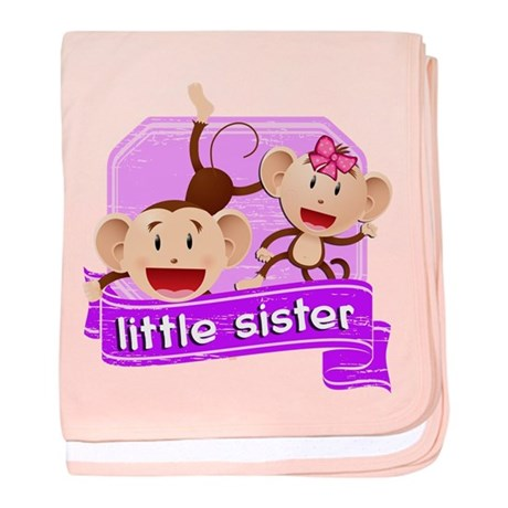 Little Sister Monkey baby blanket
