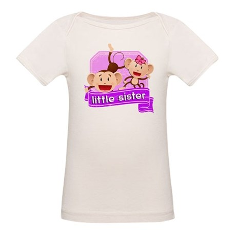 Little Sister Monkey Organic Baby T-Shirt