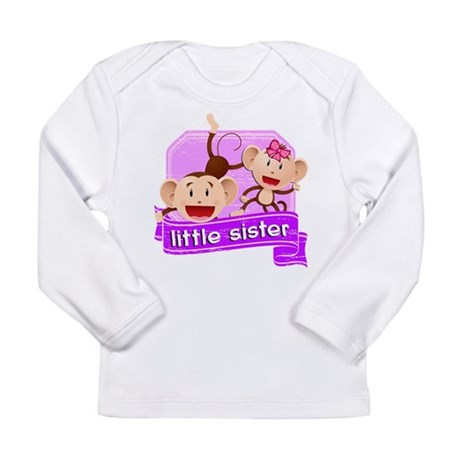 Little Sister Monkey Long Sleeve Infant T-Shirt
