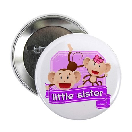 "Little Sister Monkey 2.25"" Button"
