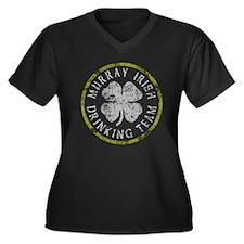 Murray Irish Drinking Team Women's Plus Size V-Nec