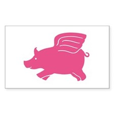 Flying Pig Rectangle Decal
