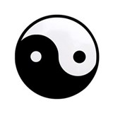 "Yin Yang 3.5"" Button (100 pack)"