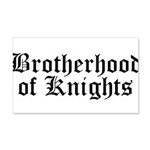 Brotherhood of Knights 22x14 Wall Peel