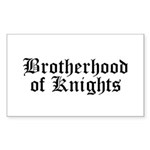 Brotherhood of Knights Sticker (Rectangle 10 pk)
