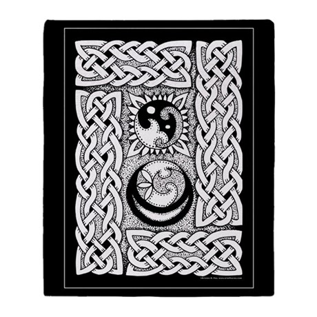 Celtic Sun-Moon Throw Blanket