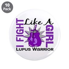 "Fight Like A Girl Lupus 3.5"" Button (10 pack)"