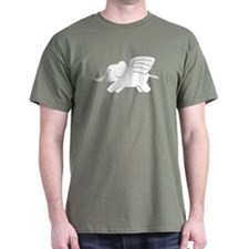 Flying Elephant Black T-Shirt