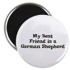 "My Best Friend is a German Sh 2.25"" Magnet (10 pac"