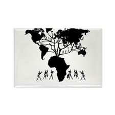 Africa Genealogy Tree Rectangle Magnet (100 pack)