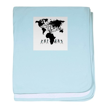 Africa Genealogy Tree baby blanket