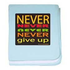 Never Give Up baby blanket