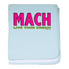 MACH live your dream baby blanket